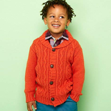 RJR.John Rocha - Designer boy+s orange cable cardi