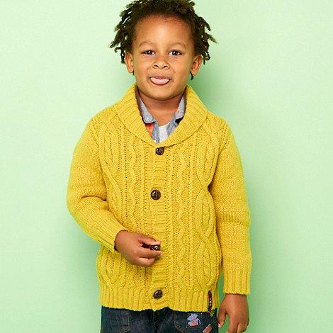 RJR.John Rocha - Designer boy+s  mustard cable knit cardigan