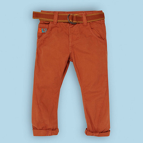 RJR.John Rocha - Designer boy+s dark tan belted chinos