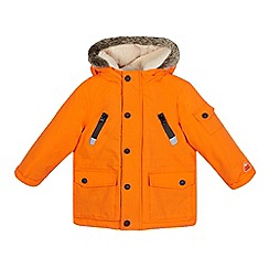Mantaray - Boys' orange waterproof parka jacket