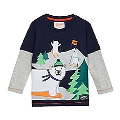 Mantaray - Boys' blue polar print t-shirt