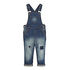 Mantaray - Boys' blue distressed dungarees