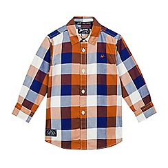 Mantaray - Boys' orange checked woven shirt