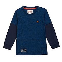 Mantaray - Boys' blue textured top
