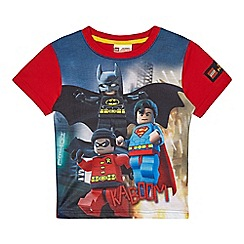 LEGO - Boys' red 'LEGO Superhero' print t-shirt