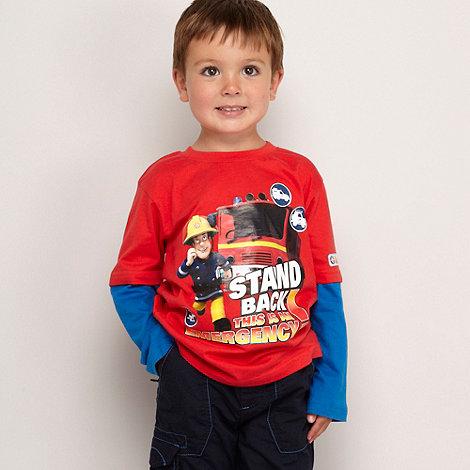 Fireman Sam - Boy+s blue +Fireman Sam+ striped top