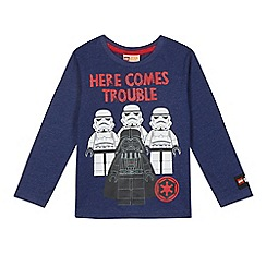 Star Wars - Boys' navy 'LEGO Stormtrooper and Darth Vader' print top
