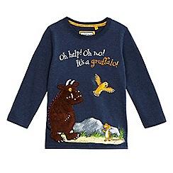 The Gruffalo - Boys' blue 'Gruffalo' applique top
