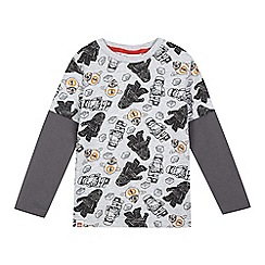 Star Wars - Boys' grey 'Lego Star Wars' print top
