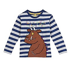 The Gruffalo - Boys' navy striped 'Gruffalo' print t-shirt