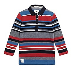 J by Jasper Conran - Boys  multi-coloured striped long sleeve polo shirt