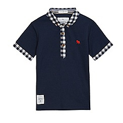 J by Jasper Conran - Boys' navy textured polo shirt