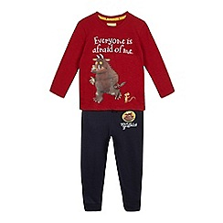 The Gruffalo - Red and navy 'Gruffalo' applique top and jogging bottoms set
