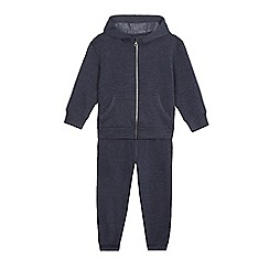 bluezoo - Boys' navy zip through hoodie and jogging bottoms set