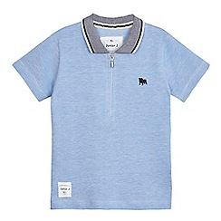 J by Jasper Conran - Boys' blue pique zip down polo top
