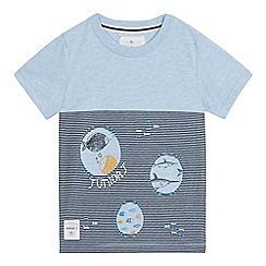 J by Jasper Conran - Boys' blue striped underwater print t-shirt