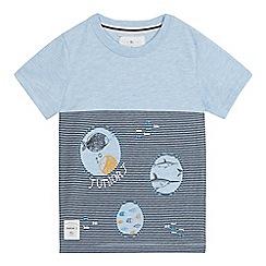 J by Jasper Conran - Boys' blue striped underwater print t-shirt