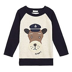 J by Jasper Conran - Navy nautical dog applique jumper