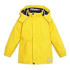 J by Jasper Conran - Boys' yellow reflective 3 in 1 waterproof jacket