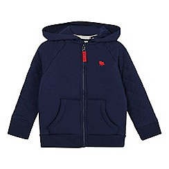J by Jasper Conran - Boys' navy quilted zip through hoody