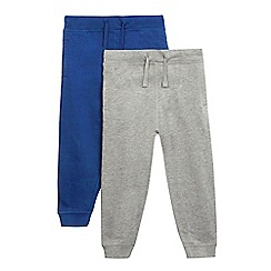 bluezoo - Pack of two boys' blue and grey joggers
