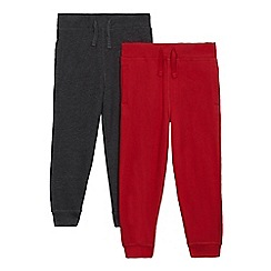 bluezoo - Pack of two boys' red and grey jogging bottoms