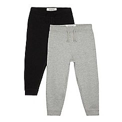bluezoo - Pack of two boys' black and grey jogging bottoms