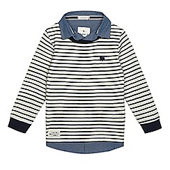 J by Jasper Conran - Girls' cream striped mock top