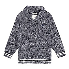 J by Jasper Conran - Boys' grey marl knit sweater