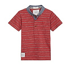 J by Jasper Conran - Boys' red textured polo shirt