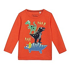 bluezoo - Boys' orange dinosaur applique top