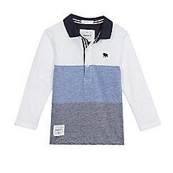 J by Jasper Conran - Boys' blue long sleeve polo shirt