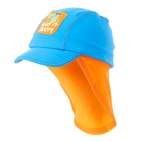 bluezoo - Baby+s blue crocodile sun hat