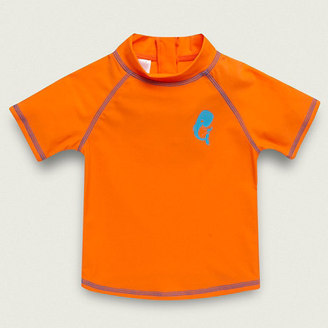 bluezoo - Boy+s bright orange rash top