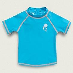 bluezoo - Boy's bright turquoise rash top