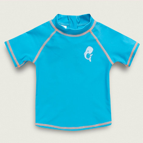 bluezoo - Boy+s bright turquoise rash top