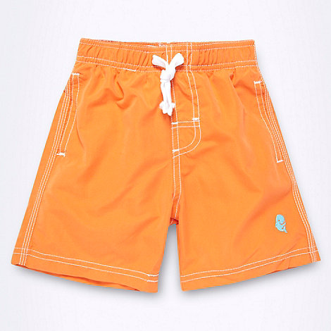 bluezoo - Boy+s orange swim shorts