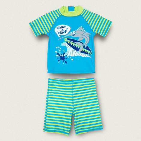 bluezoo - Boy+s blue swim set