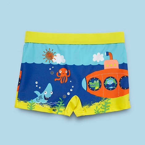 bluezoo - Boy+s yellow submarine scene trunks