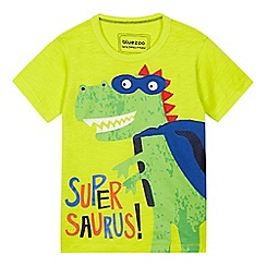 bluezoo - Boys' yellow 'Supersaurus' t-shirt