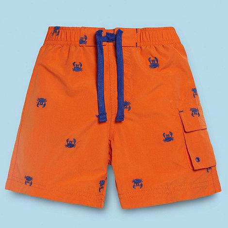 bluezoo - Boy+s orange crab swim shorts