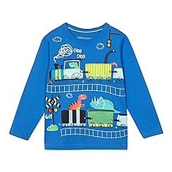 bluezoo - Boys' blue applique train t-shirt