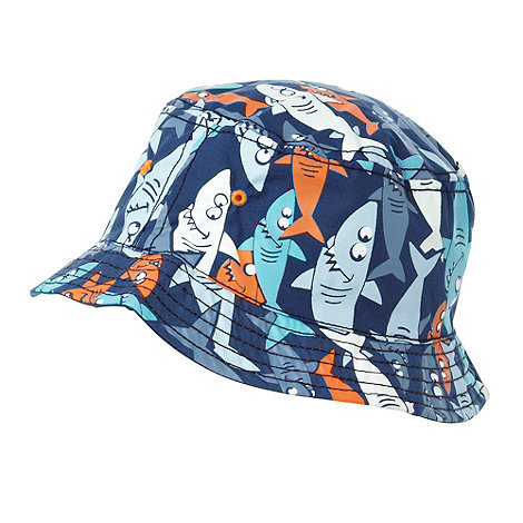 bluezoo - Boy+s pack of two orange shark fisherman sun hats