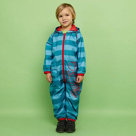 bluezoo - Boy+s blue striped puddlesuit