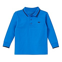 bluezoo - Boys' blue dinosaur embroidered polo shirt