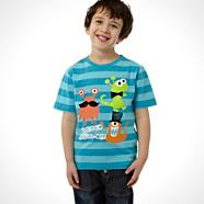 Boy's blue 'Monster Dress Up' printed t-shirt