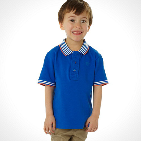 bluezoo - Boy+s blue short sleeved polo top
