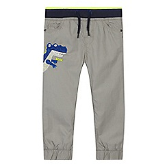 bluezoo - Boys' grey dino print jersey lined trousers