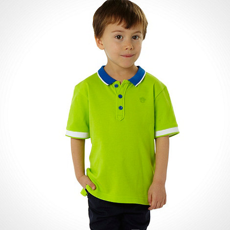 bluezoo - Boy+s green short sleeved polo top