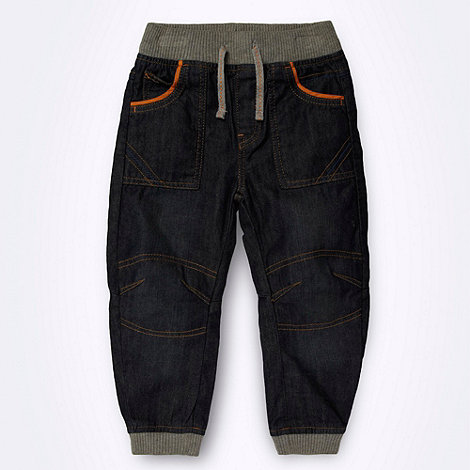 bluezoo - Boys+ dark blue ribbed cuffed jeans